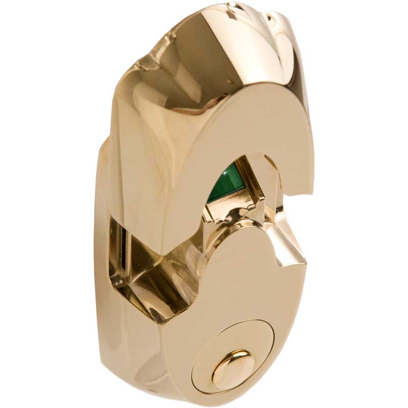 Actuator Systems NEXTBOLT-NX4 PB Secure-Mount Biometric Lock - Polished Brass