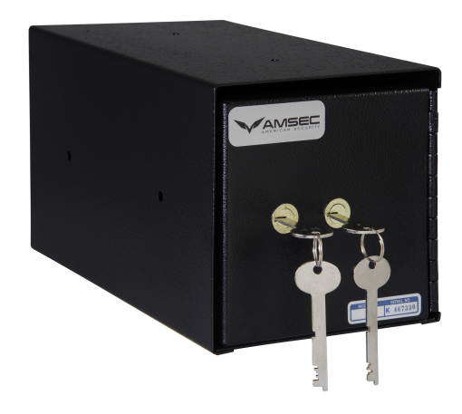 American Security TB0610-4 - Under Counter Safe - with Dual Custody Safe Deposit Key Lock (Double Nose)