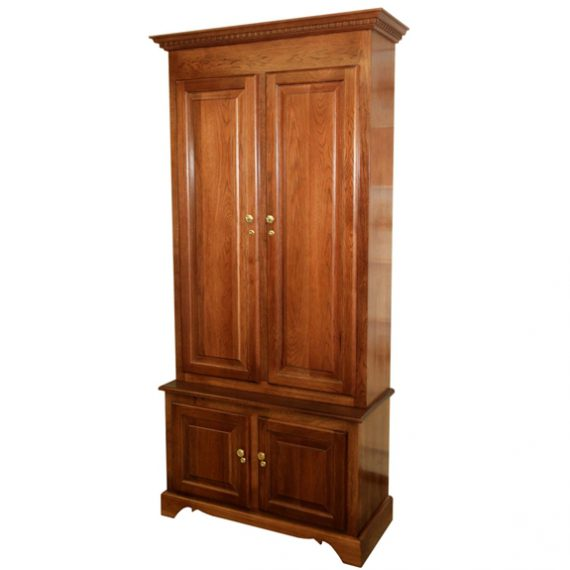 Amish Woodworking 50512 Elite 6 Gun Cabinet - Solid Cherry