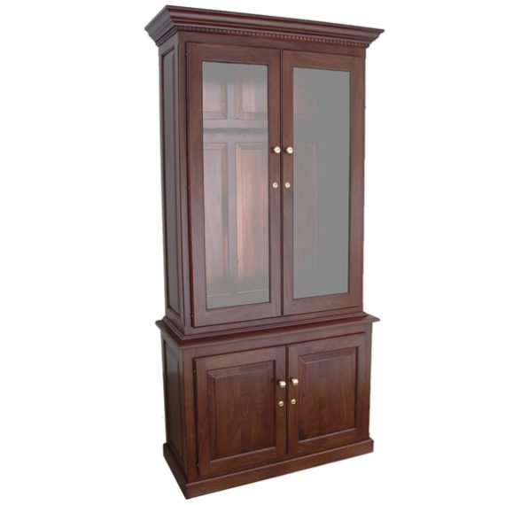Amish Woodworking 50515D Heritage III 10 Gun Cabinet - Solid Walnut