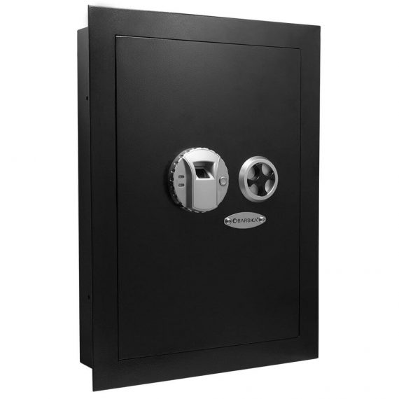 Barska AX13034 Black Biometric Wall Safe