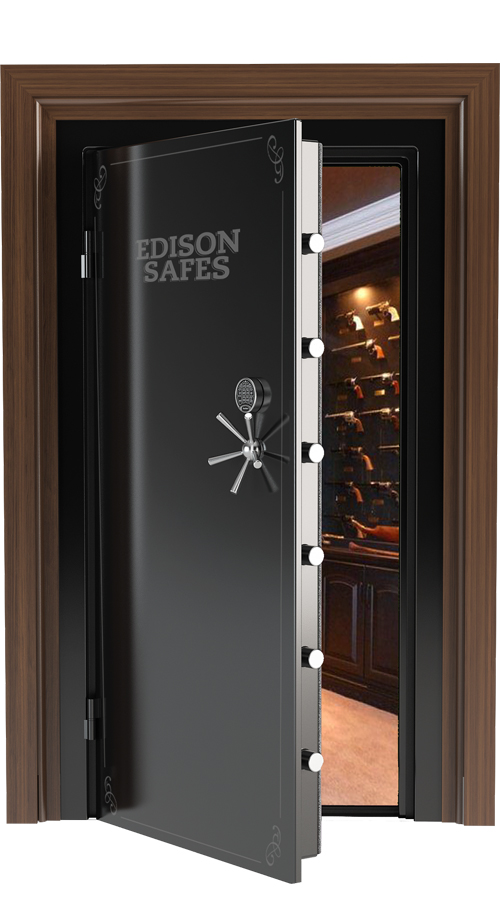 "Edison Safes - 80"" x 30"" Vault Door - 30-60 Minute Fire Rating"