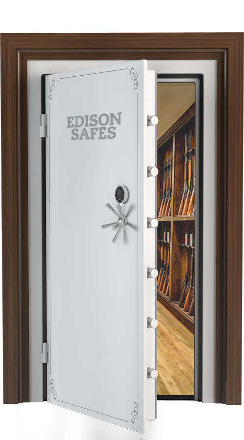 "Edison Safes - 80"" x 40"" Vault Door - 30-60 Minute Fire Rating"