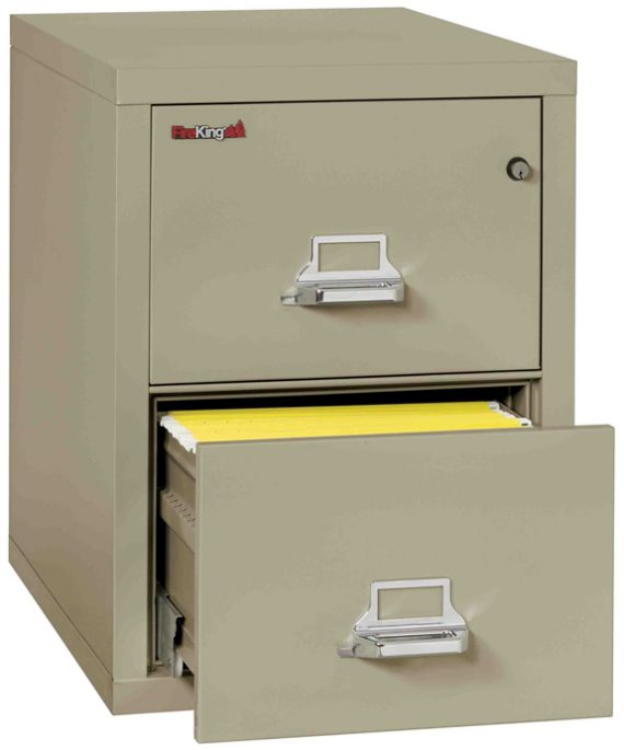 Fire King 2-1831-C - Vertical Fireproof File Cabinets - 3 Drawer 1 Hour Fire Rating