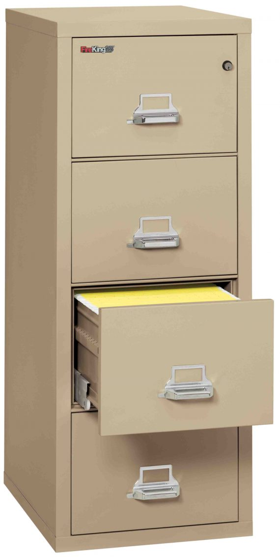 Fire King 4-1825-C - FireKing 25 File Cabinets - 4 Drawer 1 Hour Fire Rating