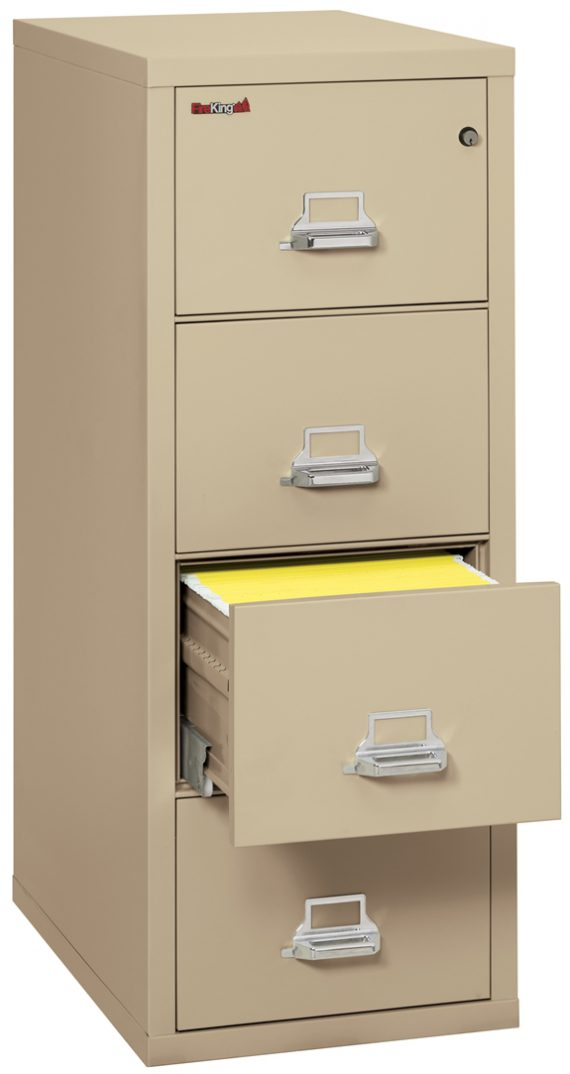 Fire King 4-1831-C - Vertical Fireproof File Cabinets - 4 Drawer 1 Hour Fire Rating