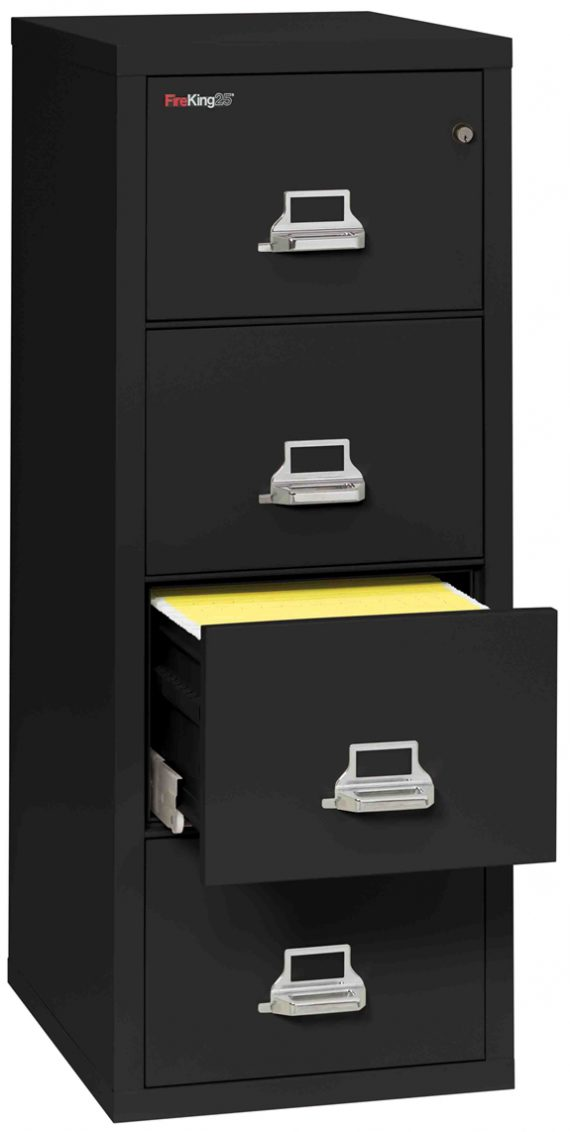 Fire King 4-2125-C - FireKing 25 File Cabinets - 4 Drawer 1 Hour Fire Rating