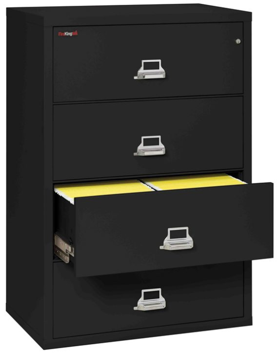 Fire King 4-3822-C - Lateral Fireproof File Cabinets - 4 Drawer 1 Hour Fire Rating