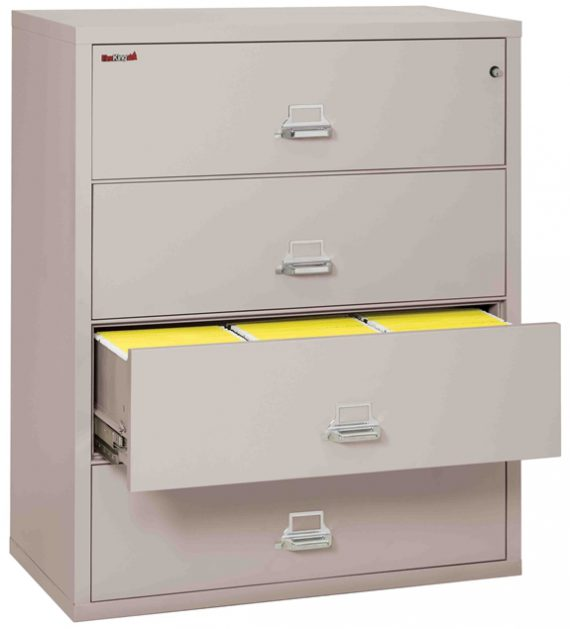 Fire King 4-4422-C - Lateral Fireproof File Cabinets - 4 Drawer 1 Hour Fire Rating