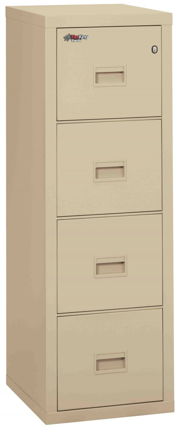 Fire King 4R1822-C - Turtle Fireproof File Cabinets - 4 Drawer 1 Hour Fire Rating