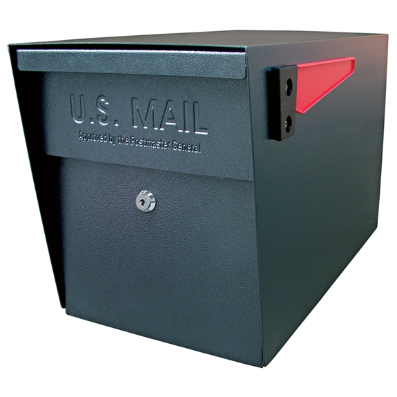 MailBoss 7106 Locking Security Mailbox - Black