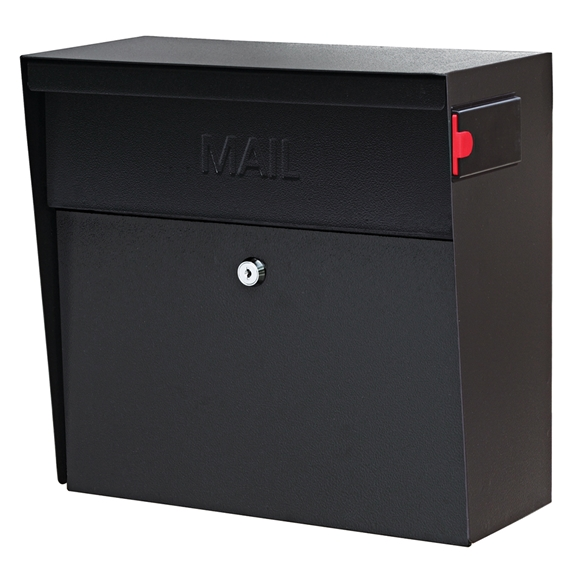 MailBoss 7162 Metro Wall Mount Locking Mailbox - Black