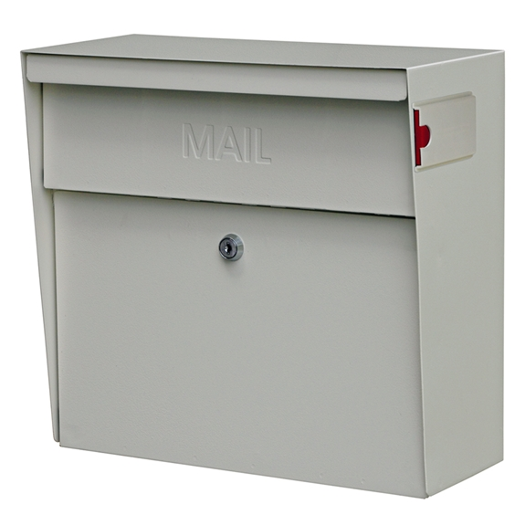 MailBoss 7163 Metro Wall Mount Locking Mailbox - White