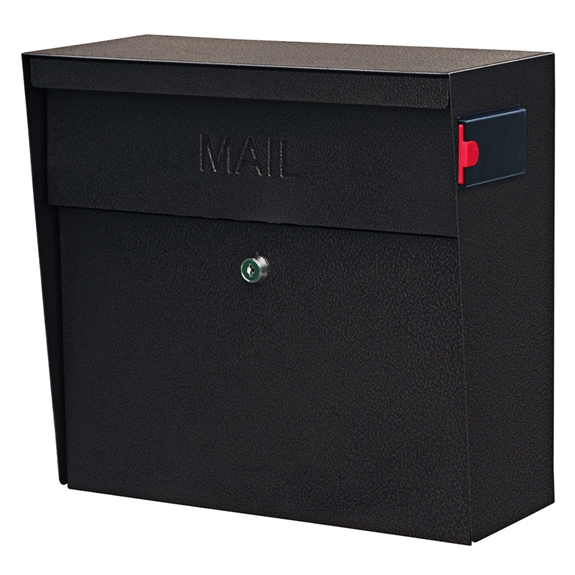 MailBoss 7164 Metro Wall Mount Locking Mailbox - Bronze