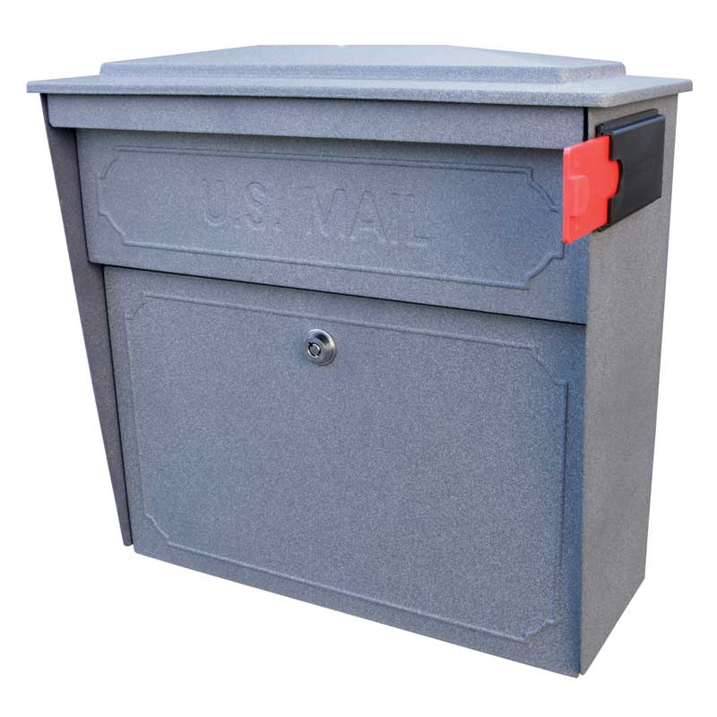 MailBoss 7171 Townhouse Wall Mount Locking Mailbox - Granite