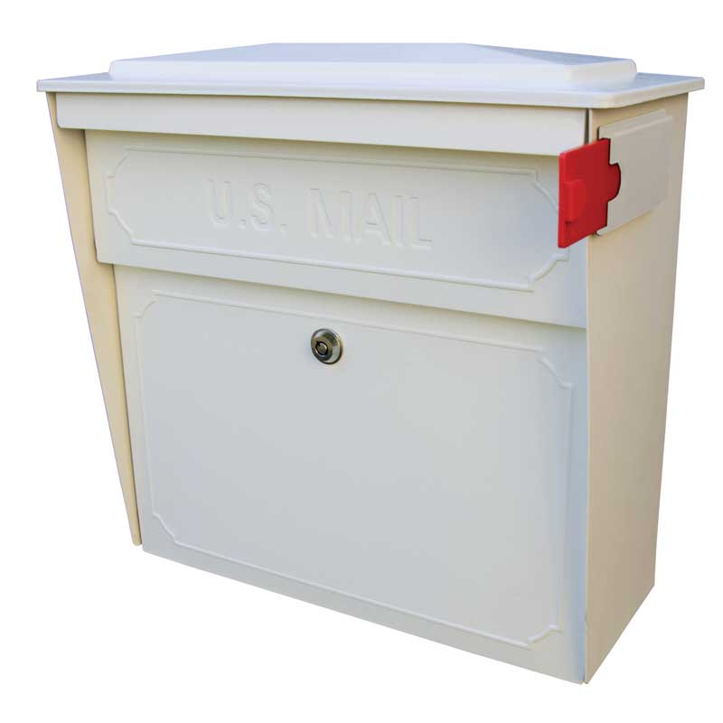 MailBoss 7173 Townhouse Wall Mount Locking Mailbox - White