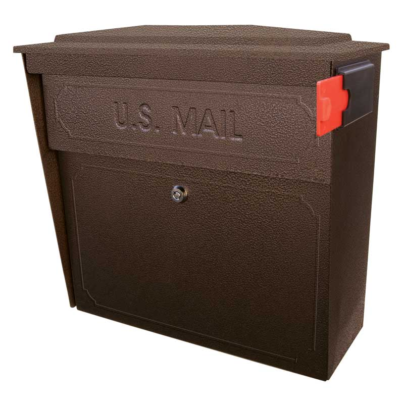 MailBoss 7174 Townhouse Wall Mount Locking Mailbox - Bronze