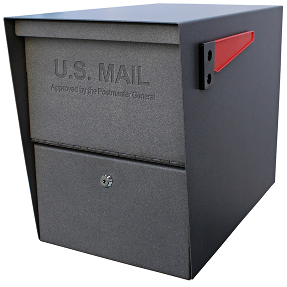 MailBoss 7205 Package Master Locking Security Mailbox - Granite