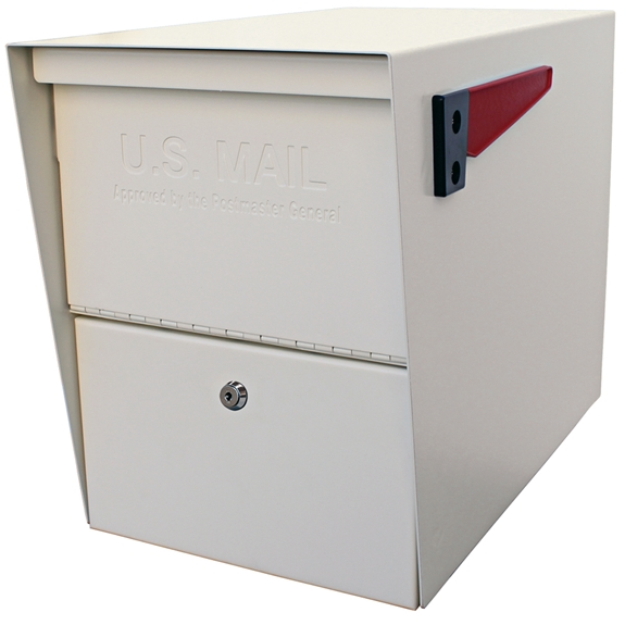 MailBoss 7207 Package Master Locking Security Mailbox - White