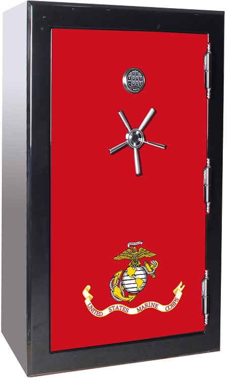 Old Glory Tactical Gun Safe - U.S.M.C Forever - 39 Gun Capacity - 2 Hour Rating