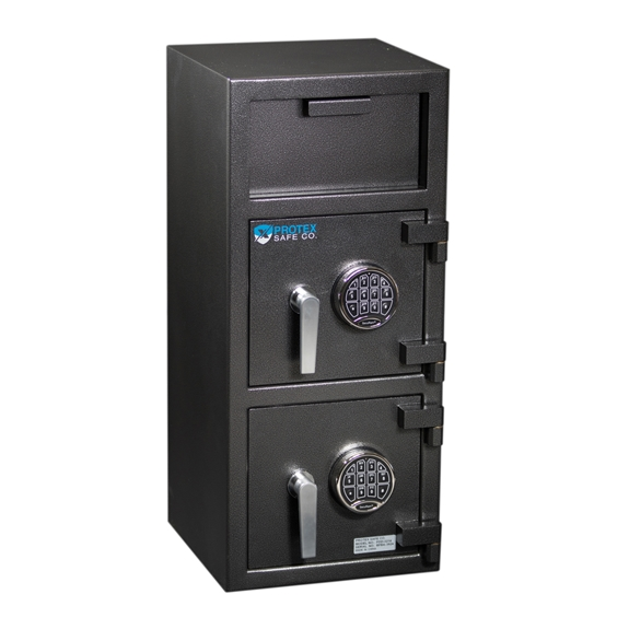 Protex FDD-3214 Safe - B-rated Narrow Duel Compartment Depository Safe
