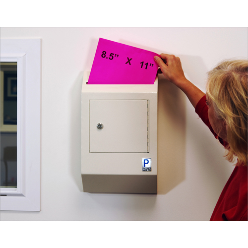 Protex WDB-110 Safe - Wall-Mount Locking - Payment Drop Box