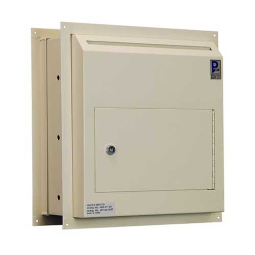 Protex WDS-311-DD Through-The-Wall Locking Drop Box w/ Dual Doors