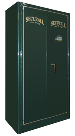 "Securall - GR12 - 12 Gun Capacity Radius w/ Digital Lock Double Door Cabinet 65""H x 34""W x 18""D"