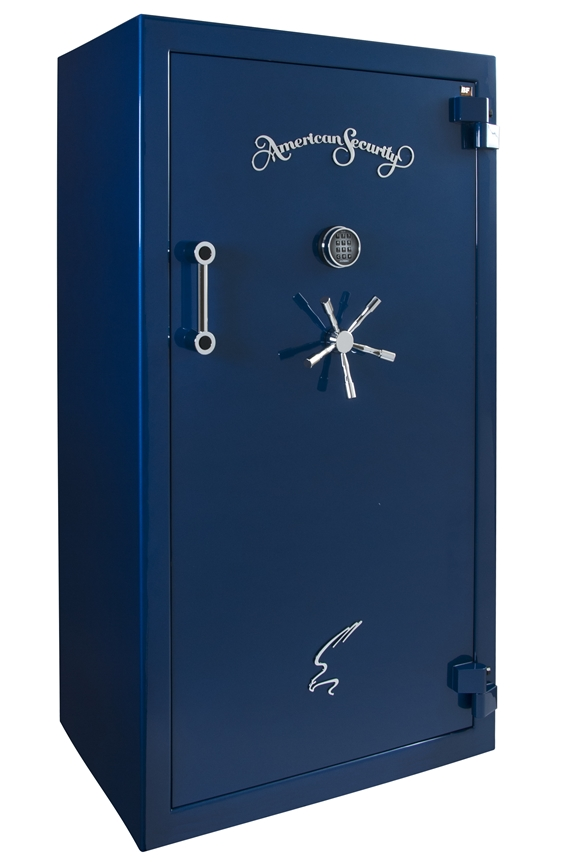 American Security - BF6030 - 11/11/22 Gun Capacity - 120 Min / 1200° - Quick Ship Gloss Sapphire Blue Electronic Lock Safe