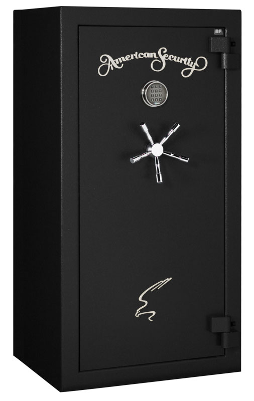 American Security - BF6030 - 11/11/22 Gun Capacity - 120 Min / 1200° - Quick Ship Matte Black Electronic Lock Safe