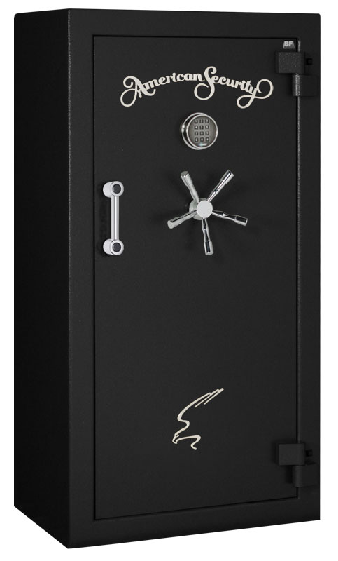 American Security - BF6032 - 9/9/18 Gun Capacity - 120 Min / 1200° - Quick Ship Matte Black Electronic Lock Safe