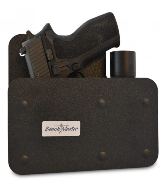 BenchMaster - Weapon Rack - BMWRMSAHV - Single Gun Pistol Rack with Side Accessory Holder