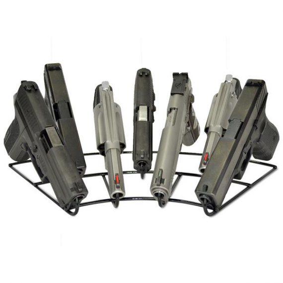 Gun Storage Solutions - FanStand7 - 7 Gun Radial Pistol Rack