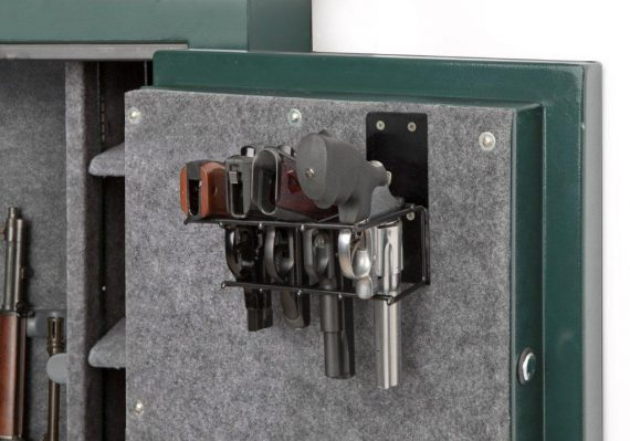 Rack'em - 6021 - Universal - 4 Pistol Gun Cabinet Holster - Mount Anywhere