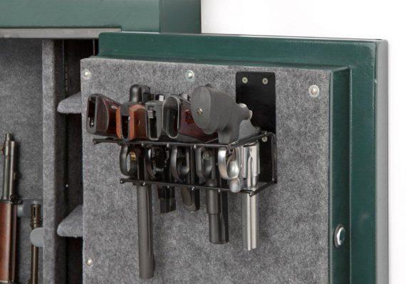 Rack'em - 6024 - Universal - 5 Pistol Gun Cabinet Holster - Mount Anywhere