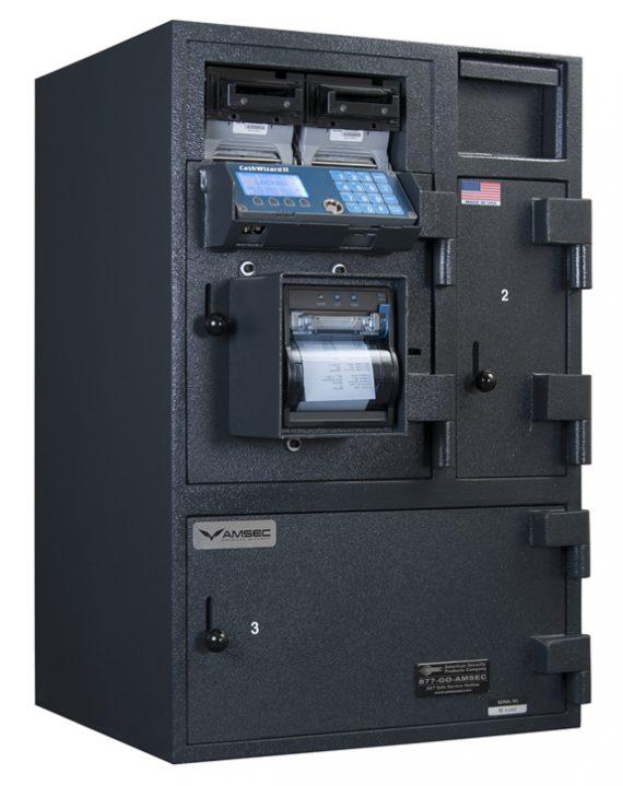 American Security BR3120 CashWizard Safe - 2 Bill Reader - 3 Door Smart Safe