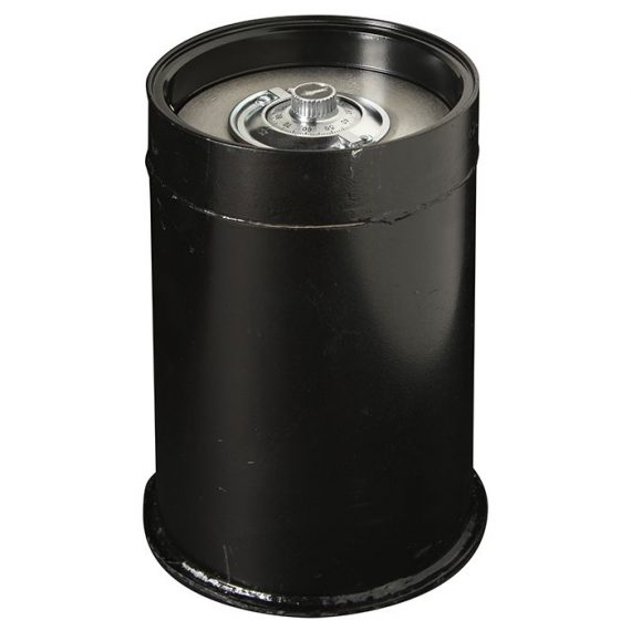 American Security CD5 - Round Lift Out Door Floor Safe - Double Compartment with Slotted Inner Door