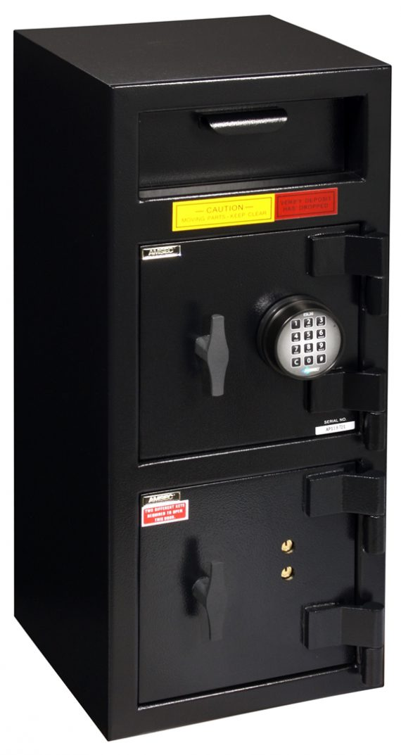 """American Security DSF3214CK - """"B"""" Rated Front Load Depository Drop Safe With E-Lock Depository and Dual Key Lock Bottom Locker"""