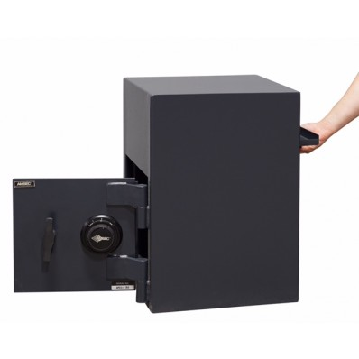 """American Security DSR2014C - """"B"""" Rated Rotary Rear Load Combination Depository Safe"""