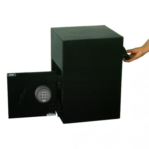 """American Security DSR2014K - """"B"""" Rated Rotary Rear Load E-Lock Depository Safe"""