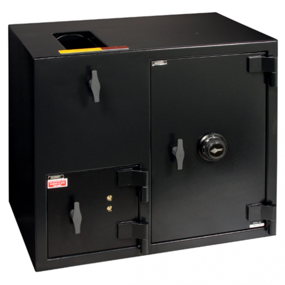 """American Security DST2731KC - """"B"""" Rated Top Load Rotary Depository Drop Safe With Dual Key Entry Depository Door and Large Combination Entry Side Safe"""