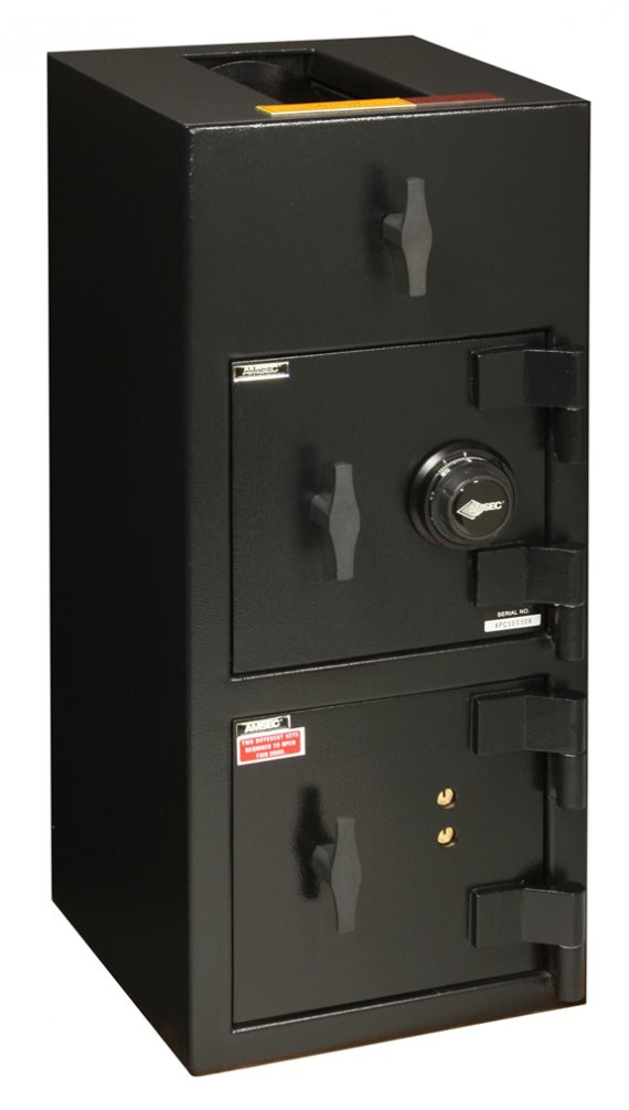 """American Security DST3214CK - """"B"""" Rated Top Load Rotary Depository Drop Safe With Combination Lock Depository and Dual Key Lock Bottom Locker"""
