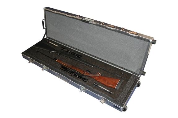Americase AT-5216LW Aluma-Trans Two Rifles w/ Scopes w/ Wheels