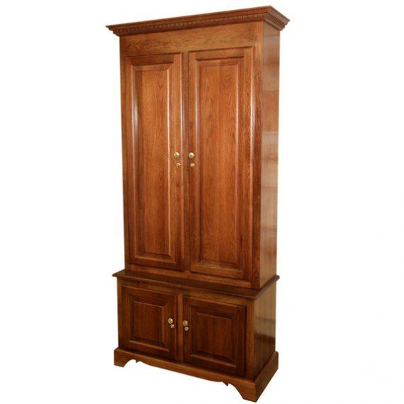 Amish Woodworking 50512 Elite 6 Gun Cabinet - Solid Cherry