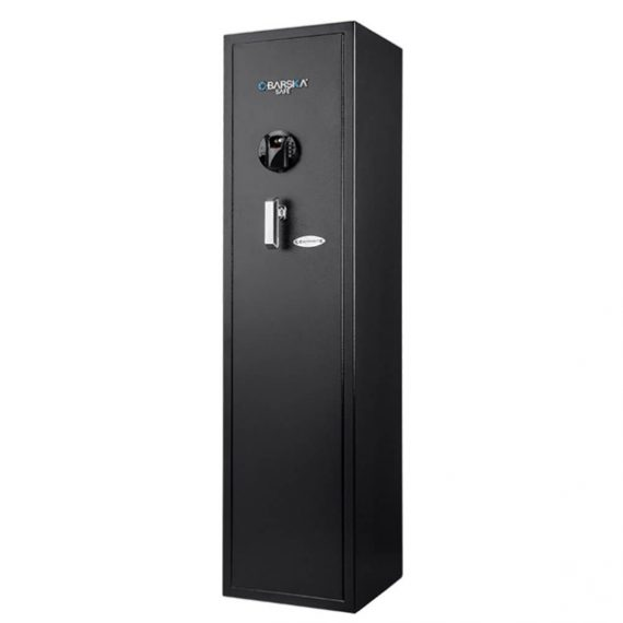 Barska AX12752 Large Quick Access Biometric Rifle Safe - 5 Gun Safe