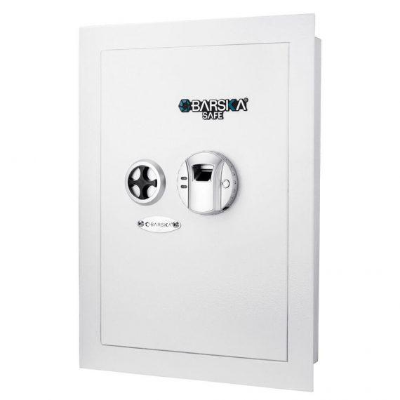 Barska AX13030 White Biometric Wall Safe