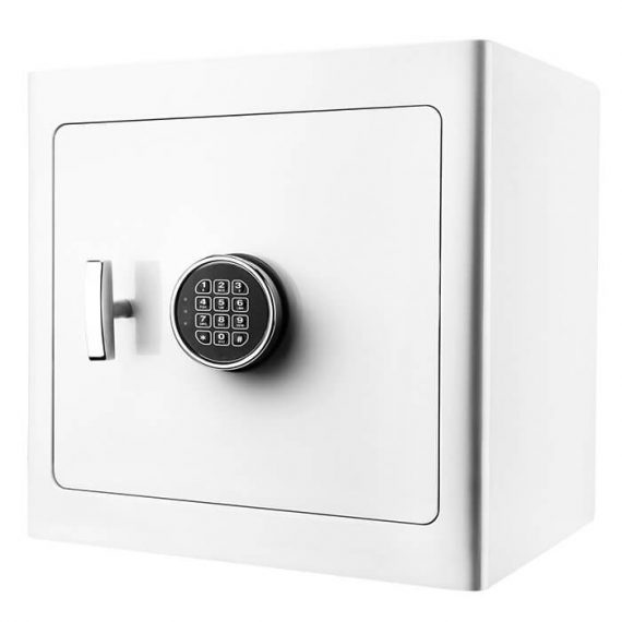 Barska AX13104 White Jewelry Safe - Tan Interior