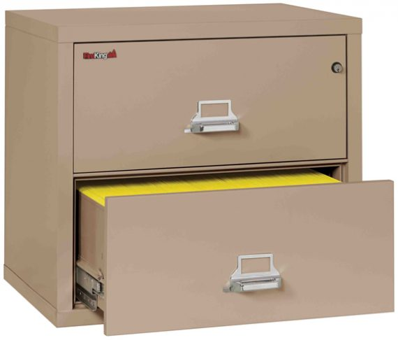 Fire King 2-3122-C - Lateral Fireproof File Cabinets - 2 Drawer 1 Hour Fire Rating