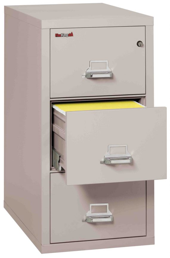 Fire King 3-1831-C - Vertical Fireproof File Cabinets - 3 Drawer 1 Hour Fire Rating