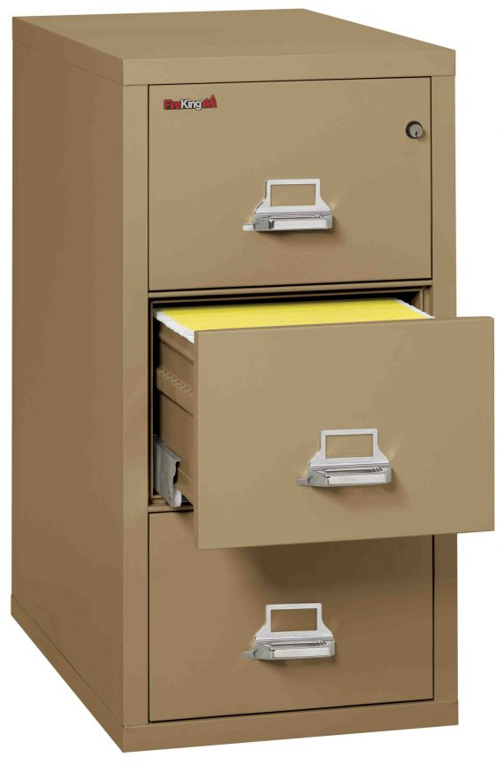 Fire King 3-2131-C - Vertical Fireproof File Cabinets - 3 Drawer 1 Hour Fire Rating